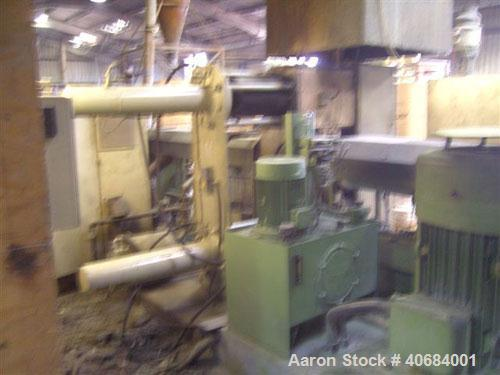 Used-Erema RGA160 Recycling Line consisting of: (1) conveyor belt with metal detector; (1) Erema RM 160 TVE unit, oversized ...