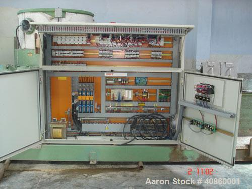 Used-Erema Extruder, model RM 120 TE. Manufactured in 1997. Includes inclined belt conveyor, metal detector, extruder, agglo...