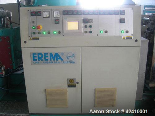 "Used-Erema RM 70 TVE Plastic Recycling Line. 2.76"" (70 mm) diameter single screw extruder with a capacity of 441-551 lbs/hou..."