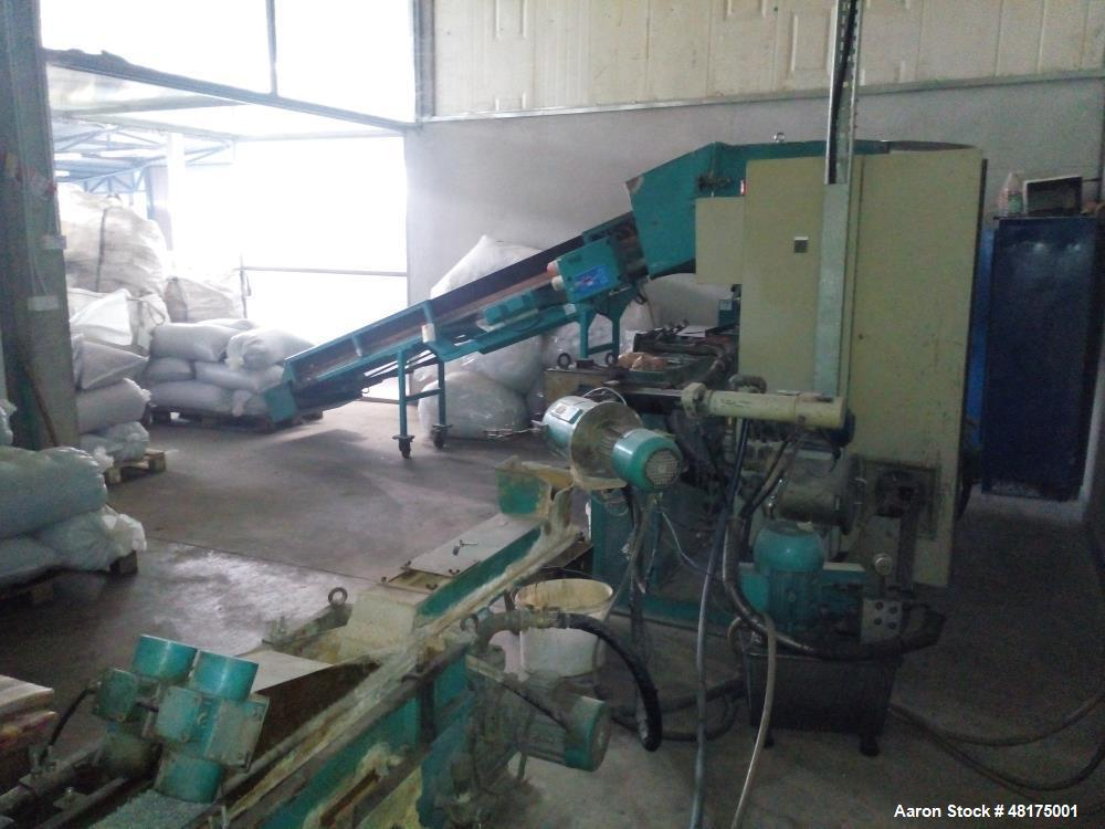 Used- Erema Plastic Recycling Line. Capacity of 132-220 lbs/h (60-100 kg/h) depending on material consisting of: (1) Erema s...
