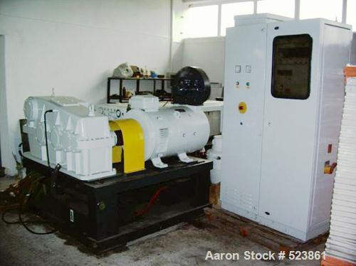 """USED: Complete PVC recycling line consisting of 2 x Metalchem extruder 5.5"""" (140 mm), degassing; screen changer, granulator,..."""