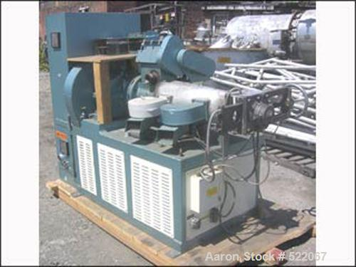 USED: 75mm Munchy reprocessing extruder, model Munchy 75MM. 75mm conical screw, 12:1 L/D electrically heated, air cooled, 25...