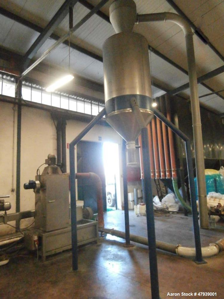 Used- NGR Next Generation Underwater Granulation Recycling Line. Rated up to 220 pounds per hour (100 Kg). System consists o...