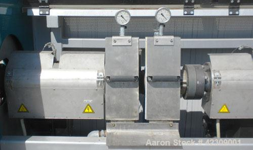 Used- NGR Recycling Machine 55mm (2.16'') Single Screw Extruder, Model A55VSP. Approximate to 1 L/D ratio. Electrically heat...