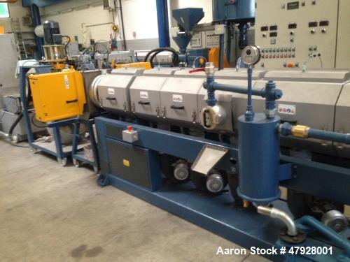 Used- OMP Prealpina ES130 Recycling Extruder. Suitable for PE/PP/PS/ABS heavy regrind, feeding hopper, screw/barrel 130 mm. ...