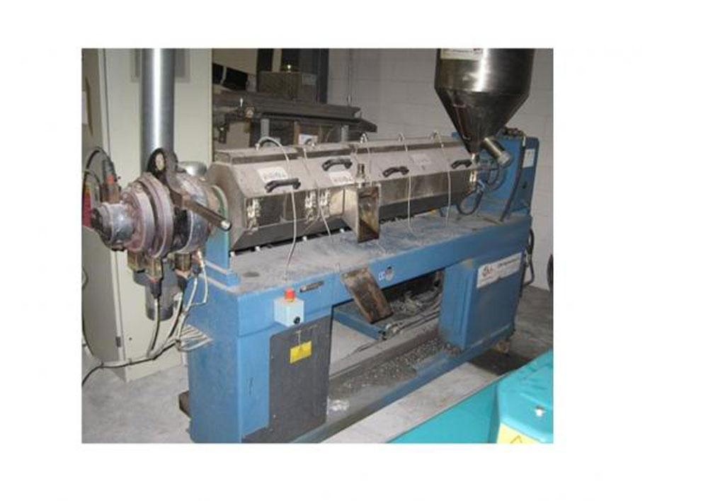 "Used-OMP Prealpina Recycling Line comprised of (1) 1.97"" (50 mm) single screw extruder with 30 L/D and degassing, (1) underw..."