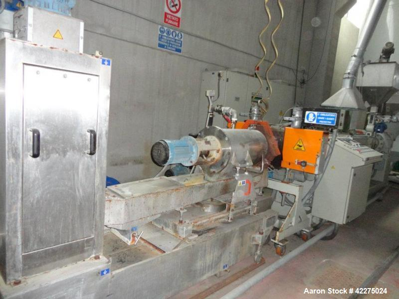 """Used-PRT Recycling Line for PP, PE and PS.  Capacity 992 lbs/h (450 kg/h).  Comprised of (1) 4.1"""" (105 mm) extruder, 35 L/D,..."""