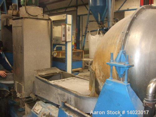 Used-Reifenhauser RT1651-1-120-30 Recycling Line.  Vacuum vented.  Comprised of (1) forced feeder, (1) Kreyenborg screen cha...