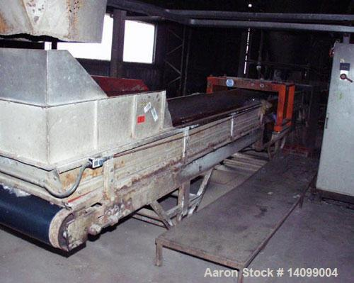 Used-Sorema PE/PP Recycling Line, built 1996, comprised of (1) Sorema feeding shaft with guillotine shear, capacity 3300 lbs...