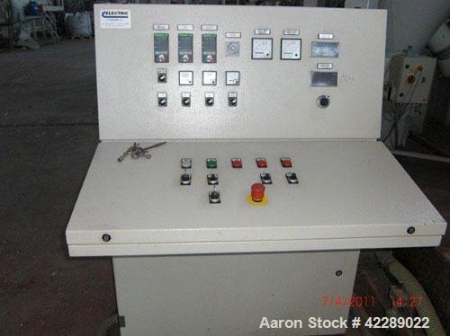 Used-Tecnova Recycling Plant, handles LPDE/HDPE/PP foils, output 992-1280 lbs/h (450-580 kg/h).  Comprised of:  (1) stocking...