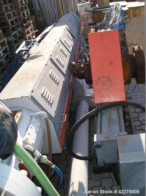 TECNOVA  ES 160R/37D  degas. recycling plant for PE PP PC PS EPS, etc. Construction year 2005,  forced feeding funnel, diam ...