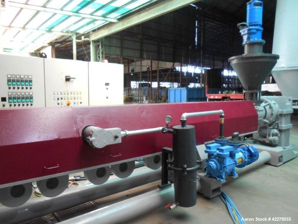 Used- Tecnova Complete Recycling Line. For LLDPE LDPE HDPE PPL PS EPS ABS etc. Type 160 mm. Composed of : 13 m3 scrap silo f...