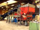 Used-Erema RGA 120 TVE. (1) Oblique belt conveyor FB 7000/1100, length 30' (7000 mm), width 3.6' (1100 mm), dust and sound r...