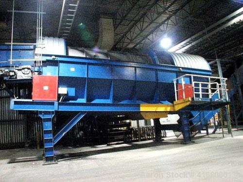 Used- Horstmann Trommel Rotating Screen Separator, Carbon Steel. Tube measures 80'' diameter x 276'' long. (30) Removable pa...