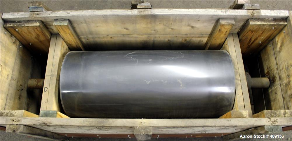 "Used-Chrome Rolls, Matte Finished. 18"" Diameter x 41"" face. Carbon steel 3"" diameter x 12"" long shafts."