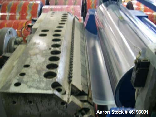 Used- Complete Extrusion Line for Flat Sheet PP and PS. Film width up to 850 mm. Film thickness from 0.2 up to 1.5 mm. Consi...