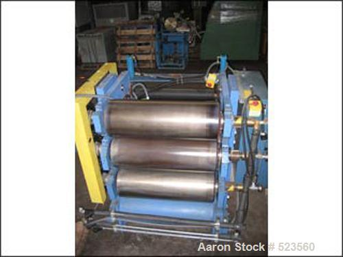 "USED: Three roll sheet stack. (3) rolls with 33"" face x 12"" diameter cored rolls, with hydraulic gap adjustment, single row,..."