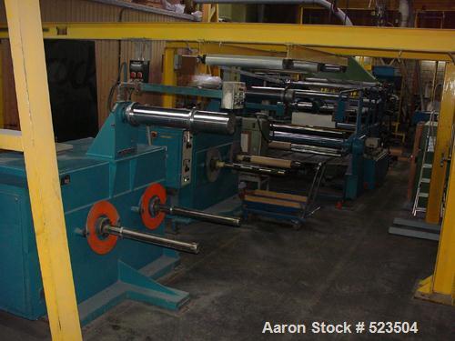 "USED: Amut sheet line. (1) Amut DS co-rotate extruder 5.7"" (145mm) 20D, screen changer, melt pump, degassing, motor 212 hp (..."
