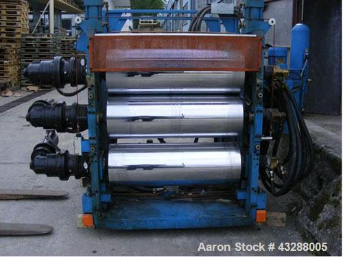 """Used-Amut Film Extrusion Line comprised of (1) Amut EA 75/35 D, 2.95"""" (75 mm) diameter single screw extruder, L/D 35, used f..."""