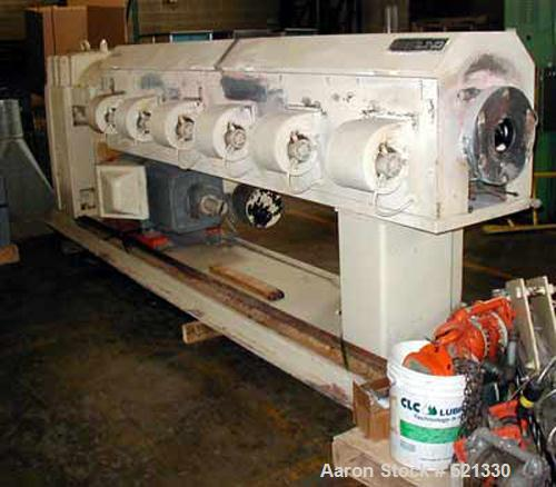 USED: APV Sterling extrusion line for the production of PP filament for woven sacks/bags. Line includes (1) APV Sterling 4.5...