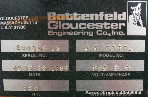 Used- Battenfeld Laminating Line