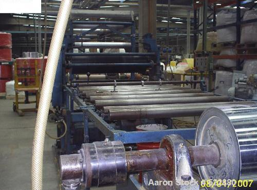 USED: Battenfeld 900mm coextrusion sheet line to process normal PSor HIPS. Main extruder with screw diameter 160mm, coextrus...