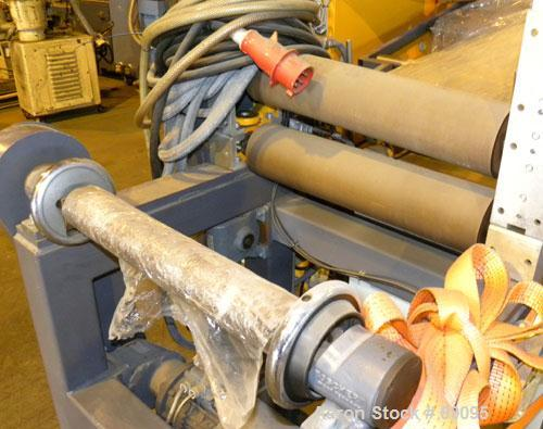 "USED- Battenfeld 17.5"" Wide Sheet/Cast Film Line Consisting Of: (1) Battenfeld 60 MM (2.3"") single screw extruder, model 1-6..."
