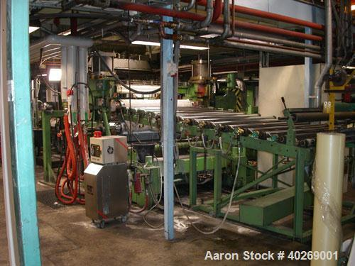 Used-Used: Breyer sheet extrusion line with a capacity of 605 lbs (275 kgs)/hour consisting of: (1) Piovan Gravimetric 5 com...