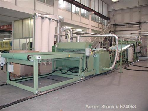 USED: Collin complete sheet/foil line consisting of: (2) automatic hopper feeders for pellets; (1) single screw extruder 4.7...