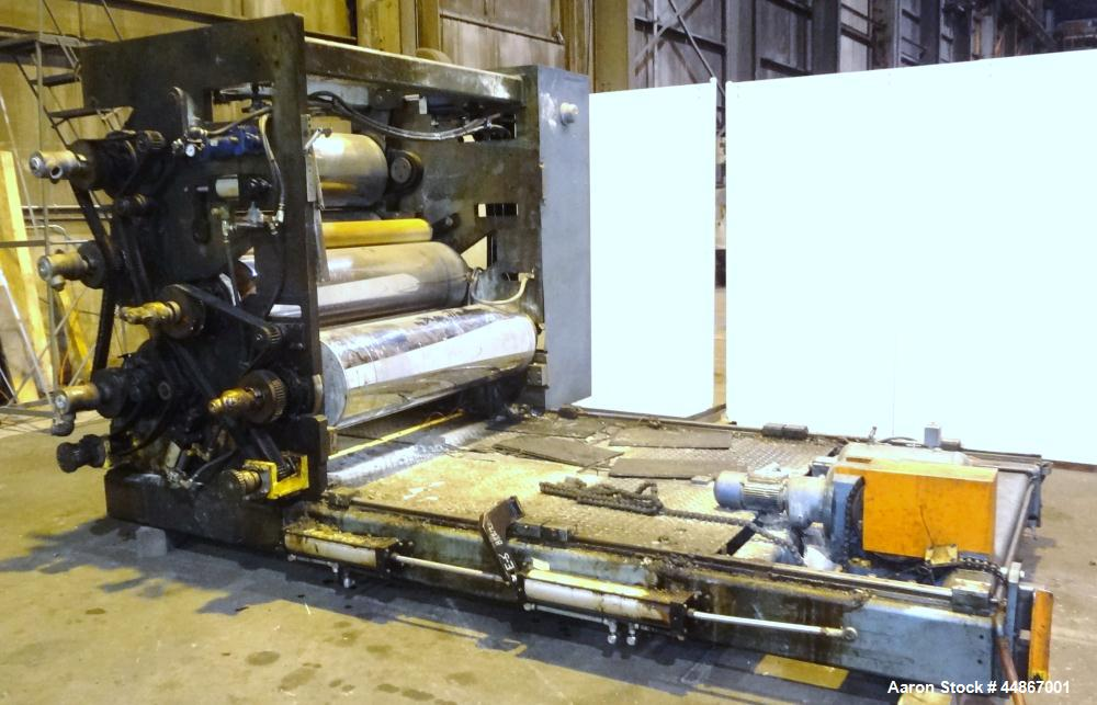 "Used- Crown CDL 64"" Wide 3 Roll Sheet Stack System"