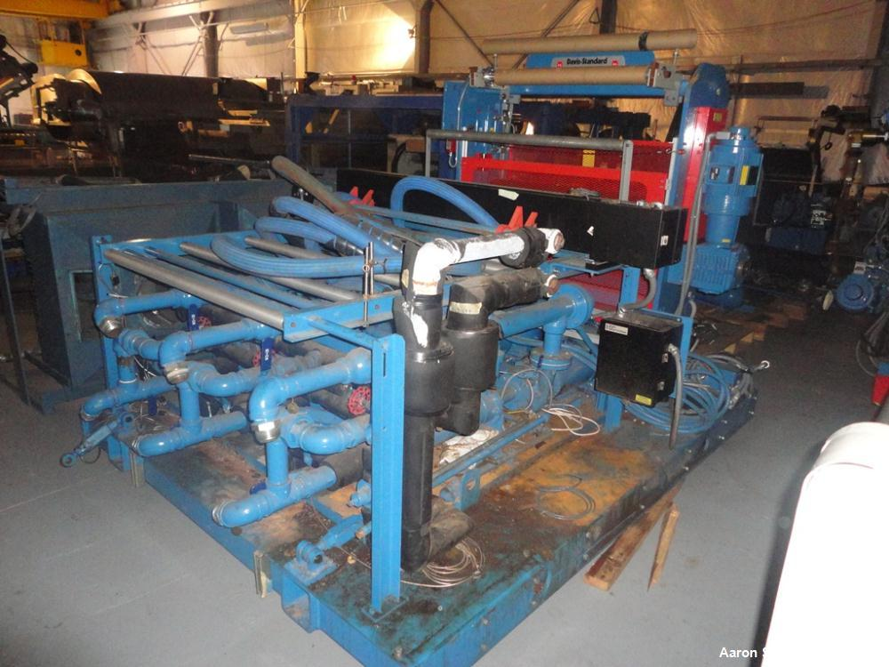 "Used- Davis Standard 46"" Three Roll Vertical Roll Stand Sheet Line"