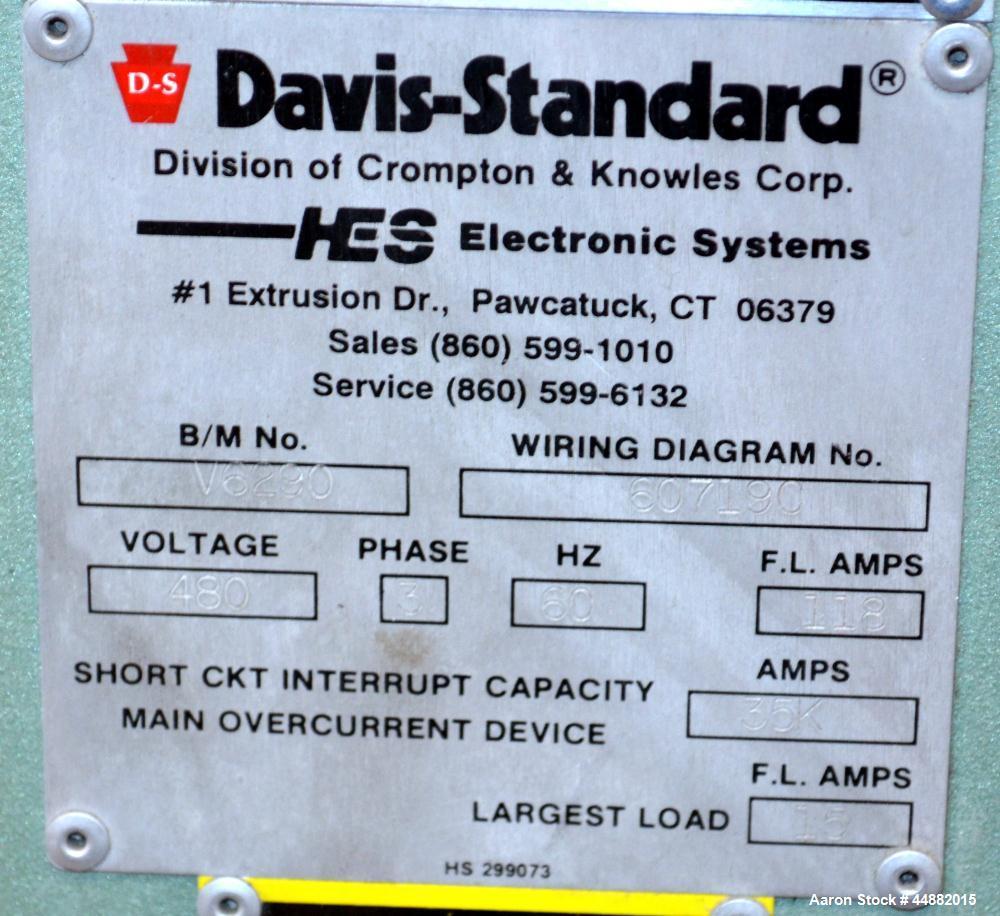 "Used- Davis Standard 66"" Wide Vertical Down 3-Roll Sheet Stack"