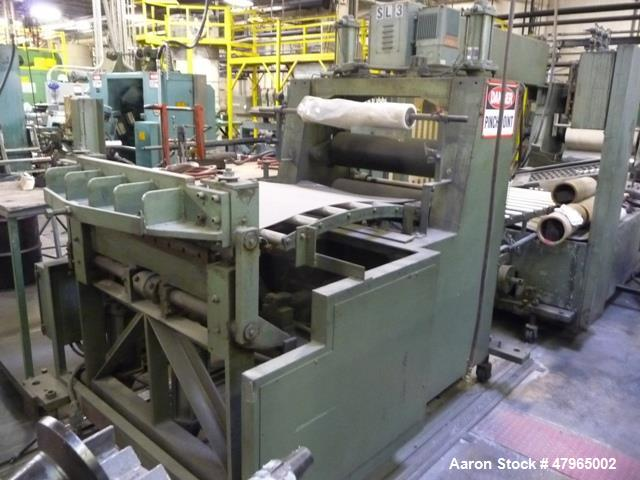 "Used- Davis Standard 3- Roll Sheet Stack, 30"" Wide, Model F8082, SO#98080. Includes 10' Long idler conveyor, pull roll stand..."