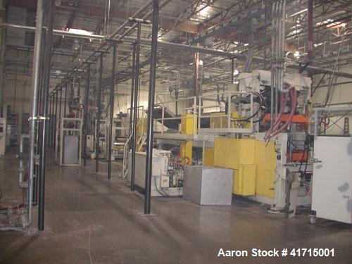 Used- Davis Standard Three Roll Sheet Stack
