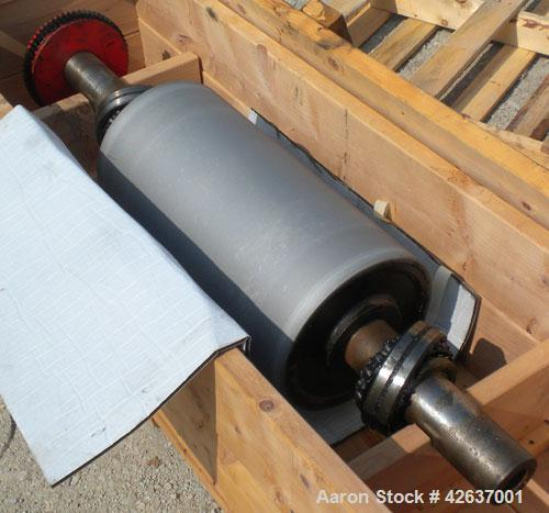 Used- Davis Standard 3-Roll Stack. (3) 12'' Diameter x 24'' wide chrome matte cored rolls, driven by a 3 hp, 500 volt, 1750/...