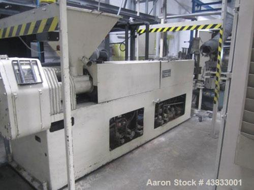 """Used- 66"""" Wide Gloucester Sheet Line consisting of the following:  3.5"""" Gloucester extruder, 32:1 l/d, electrically heated, ..."""