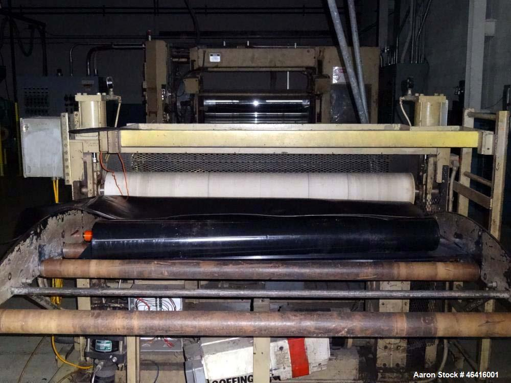 """Used- 4.5"""" HPM Single Screw Extruder. 30:1 L/D ratio, vented barrel, electrically heated. Water cooled with closed loop wate..."""