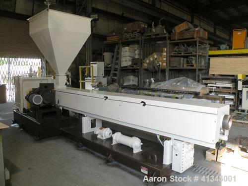 "Used- HPM Sheet Line consisting of: (1) HPM 4-1/2"" single screw extruder, model 4.5TMIII, serial #82-210. Approximately 38 t..."