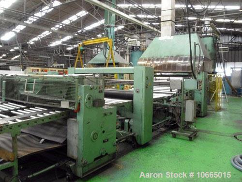 "Used-79"" (2000 mm) wide Kaufman Co-Extrusion Sheet Line. (1) 6"" (150 mm) Kaufman 33D extruder, heated/cooled, vented with va..."