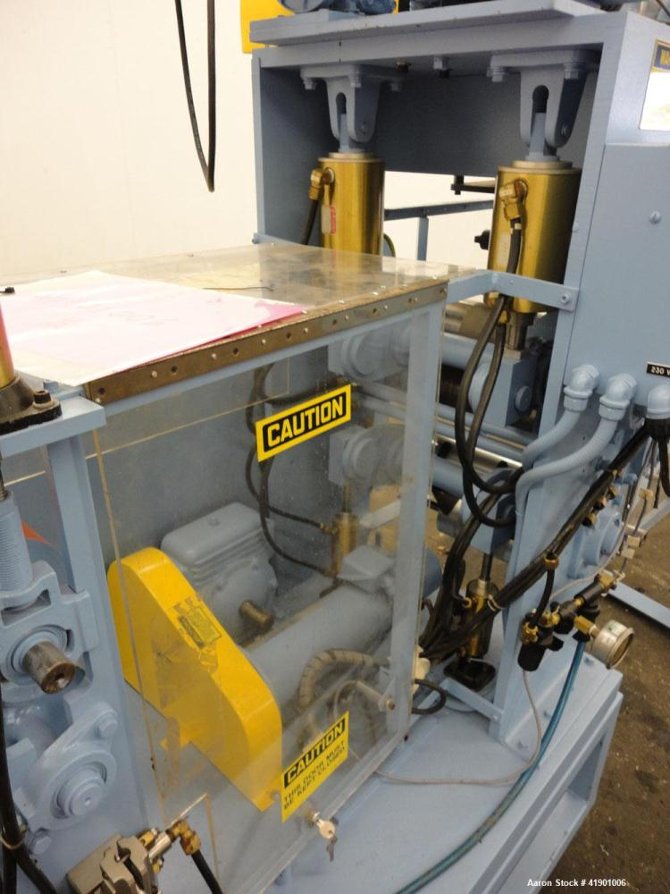 Used- Killion 3 roll sheet stack with (3) top mounted pull rolls, (1) 4-1/2'' diameter x 10'' wide rubber roll, and (2) 4'' ...