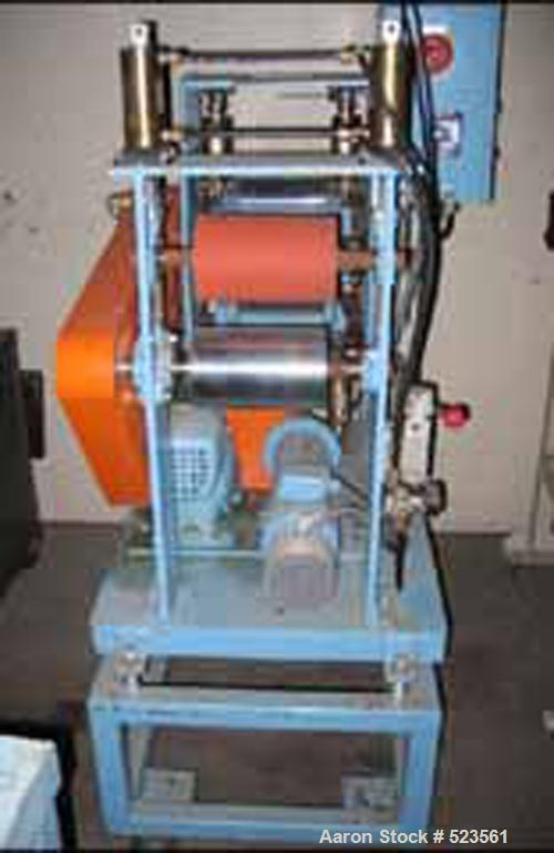 """USED: Killion sheet stack. (3) 8"""" diameter x 5"""" face rolls,adjustable first and third rolls, with 1 hp DC motor. Includes8"""" ..."""