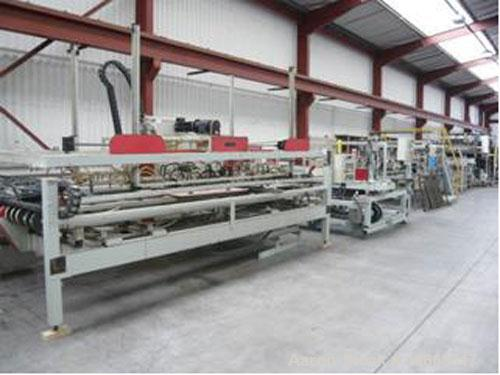"Used-Krauss Maffei Erwepa 73.2"" (1860 mm) PVC extrusion line consisting of:  (1) Krauss Maffei KMD 5.1"" (130 mm) twin screw ..."