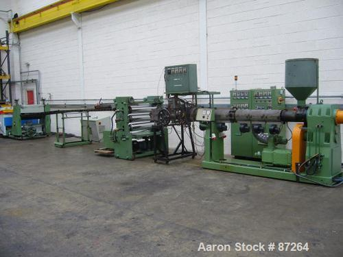 "Used- Kuhne 31.2"" (800mm) Sheet Line. Approximate Capacity 550-660 lbs/250-300 kgs of PS per hour. Line consisting of: (1) K..."