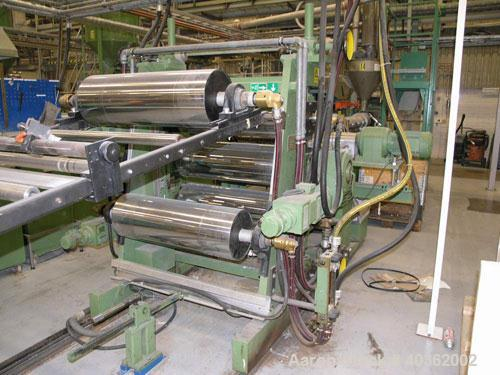 Used-Kuhne Sheet Extrusion Line with an output of 374 lbs (170 kgs)/hour consisting of: (1) Morette Plastic System mixing/fe...