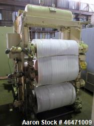 "Used-  OMV Vertical 31.5"" Three Roll Sheet Stack. 31.5"" Wide rolls with 14"" diameter top roll, 20"" diameter middle and botto..."
