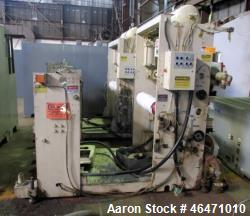 "Used- OMV Vertical 31.5"" Three Roll Sheet Stack. 31.5"" Wide rolls with 14"" diameter top roll, 20"" diameter middle and bottom..."