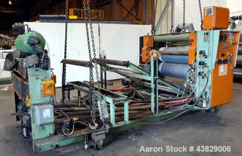 Used- NRM three roll vertical sheet stack