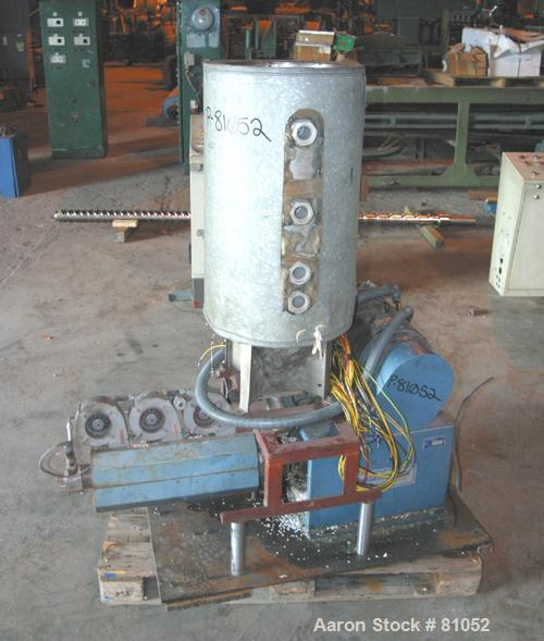 "USED:NRM 43"" sheet line consisting of (1) NRM/Bridge 4-1/2"" single screw extruder, 30:1 L/D ratio. 6 zone, non-vented barrel..."