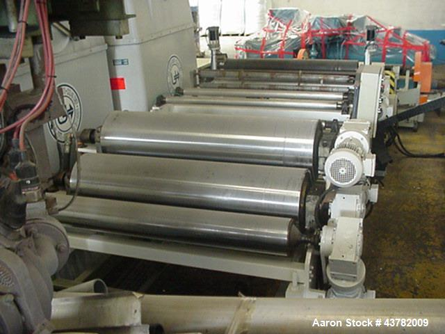 """Used- Periplast Sheet Extrusion Line. handling film width of  49.2"""" (1250 mm), 3 layers. Including (1) Single screw extruder..."""