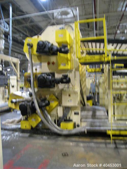 "Used- PTI (2004) Multi-Layer Sheet Extrusion Line including the following: A) (1) Used PTI model 6000 Trident series 6"", 28:..."